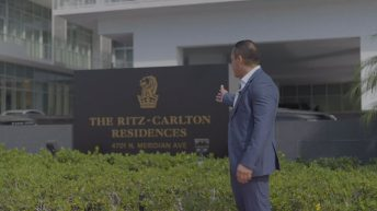 Lucas Lechuga at The Ritz-Carlton Residences Miami Beach