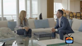 Dora Puig with Lucas Lechuga on Miami Real Estate TV