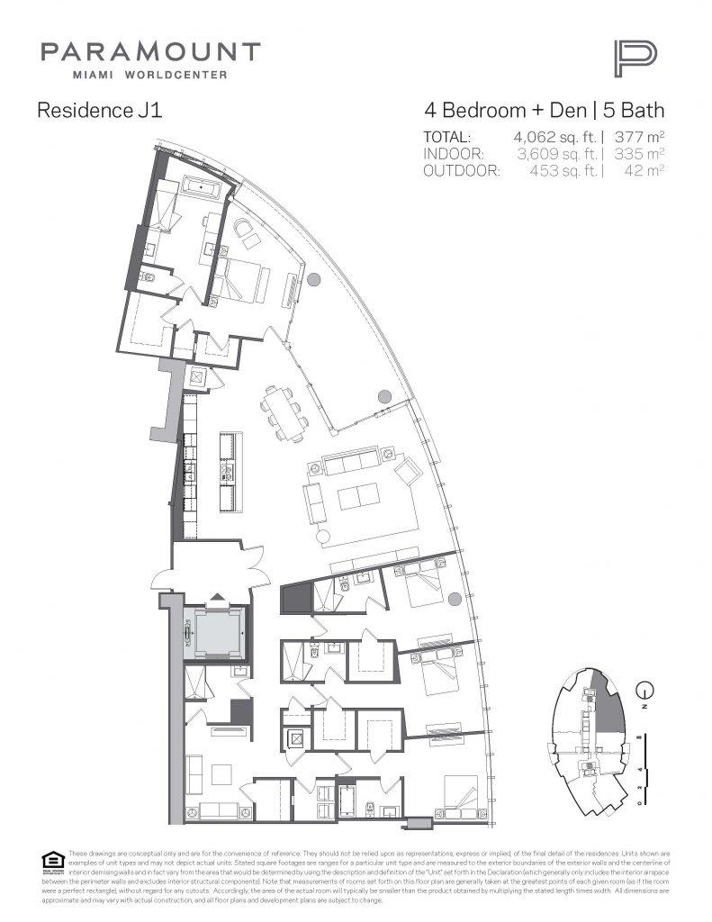 Paramount Miami Worldcenter Penthouse 5112 floor plan