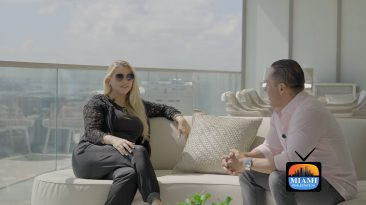 Michelle Judd and Lucas Lechuga at Armani Casa Residences