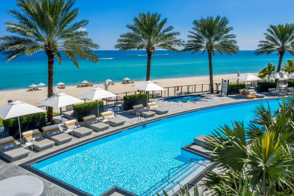 pool deck at Porsche Design Tower Miami
